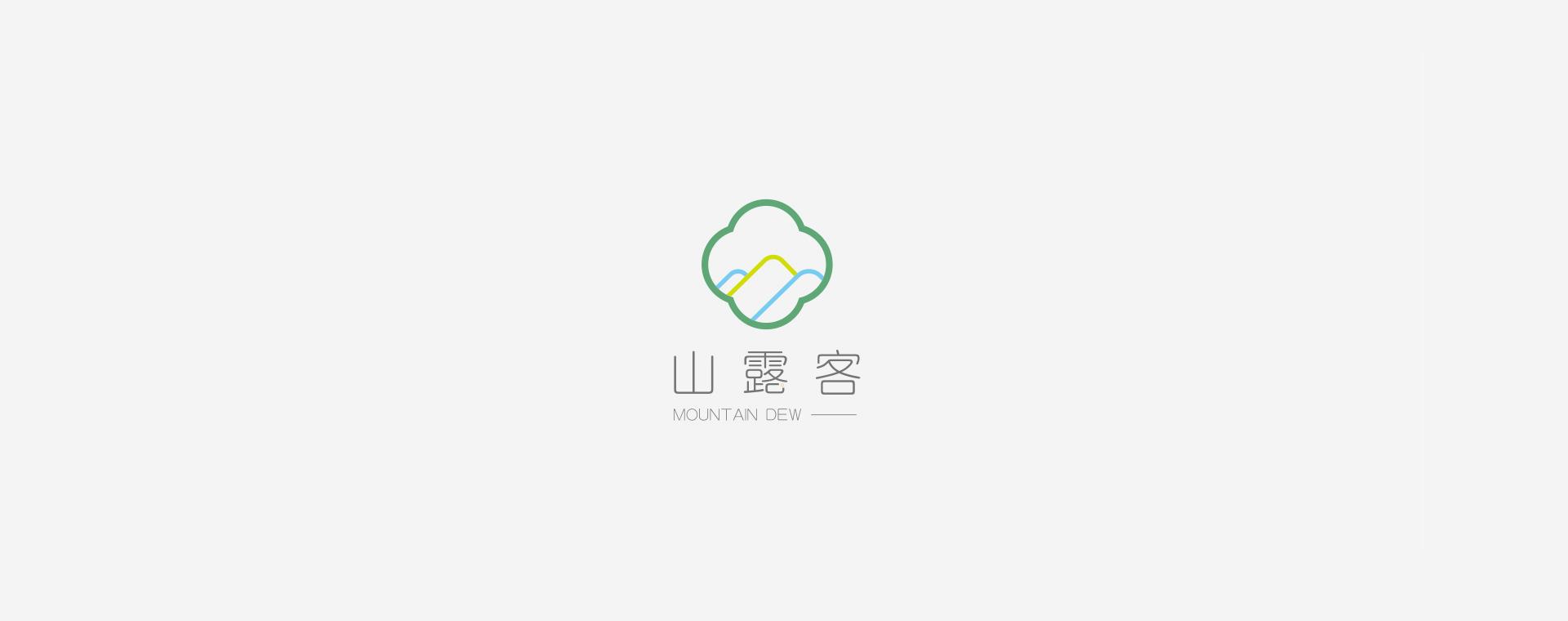 山露客logo设计